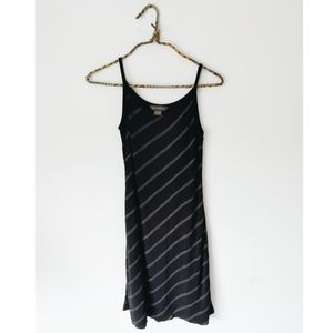 Banana Republic Black Pinstripe Midi Dress